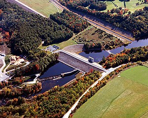 Contoocook River - Hopkinton Dam on the Contoocook River in Merrimack County