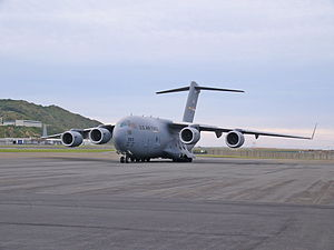 USAF C-17 Globemaster at Wellington Airport - Flickr - 111 Emergency (1).jpg