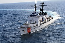 USCGC Sherman (WHEC-720) underway