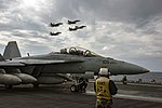 USS Dwight D. Eisenhower conducts flight operations. (31641501025).jpg