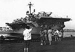 USS Hornet (CVS-12) leaving port in August 1965.jpg