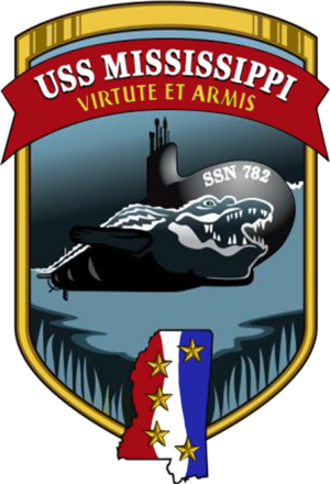 USS Mississippi (SSN-782) - Image: USS Mississippi SSN 782 Crest