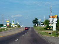 US 59 and US 71 in Mena, Arkansas.jpg