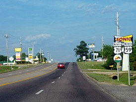 US 59 and US 71 in Mena, Arkansas.jpg