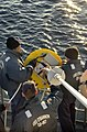 US Navy 021124-N-9251B-022 Sailors deploy probes used during a test of the Integrated Maritime Portable Acoustic Scoring and Simulation (IMPASS) system.jpg