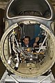 US Navy 030519-N-2911P-005 Aviation Machinist's Mate 3rd Class Micah Knight from Tazwell, Tenn., works on a T-56 engine.jpg