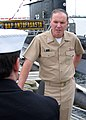 US Navy 050513-N-4010S-002 Commander, Second Fleet-NATO Striking Fleet Atlantic, Vice Adm. Mark P. Fitzgerald responds to questions from Naval media while visiting the Peruvian submarine BAP Antofagasta (SS 32) on board Naval S.jpg