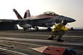 US Navy 051128-N-9389D-025 A catapult shooter gives the launch signal to an F-A-18F Super Hornet.jpg