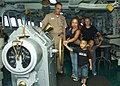 US Navy 060525-N-5621B-015 Children from M.A. Sablan Elementary School in Agat visit the bridge of the submarine tender USS Frank Cable (AS 40).jpg