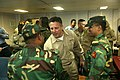 US Navy 071124-M-7696M-074 Capt. Robert Bougher, center, commander, Kearsarge Strike Group, meets with Bangladeshi military officials during a humanitarian assistance capabilities brief.jpg