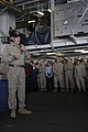 US Navy 081208-M-6412J-092 Actor and Marine Corps icon Gunnery Sgt. R. Lee Ermey speaks to Marines and Sailors.jpg