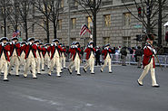 US Navy 090120-N-9954T-132 The Army Old Guard Fife and Drum Corps march down Pennsylvania Avenue during the 2009 Presidential Inaugural Parade