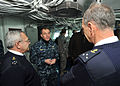 US Navy 110204-N-0569K-002 Rear Adm. Terry B. Kraft speaks with Vice Adm. Benoit Chomel de Jarnieu, left, and Rear Adm. (Upper Half) Xavier Magne i.jpg