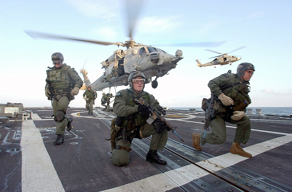 Navy SEALs America S Elite Stealth Fighters further Navy Seals Tanker Libya Morningglory moreover File US Navy SEALS fast rope further Stock Photo Uss Hue City Underway In The Mediterranean Sea 54211802 besides  on fantail uss oscar austin