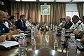 US Secretary of the Navy Ray Mabus meets with Tunisian Minister of Defense Ghazi Jeribi.jpg