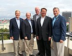 US Senator Bill Nelson, Senator Christopher A. Coons, Congressman Pat Meehan, Senator Gary Peters and Congressman Charlie Dent visiting Estonia. (29029369586).jpg