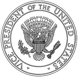 Seal of the Vice President of the United States - Illustration from 1975 executive order