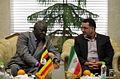 Ugandan Ambassador to Iran Mohammad Ahmad Kissule met mayor of Mashhad Mohammad Pezhman 1.jpg