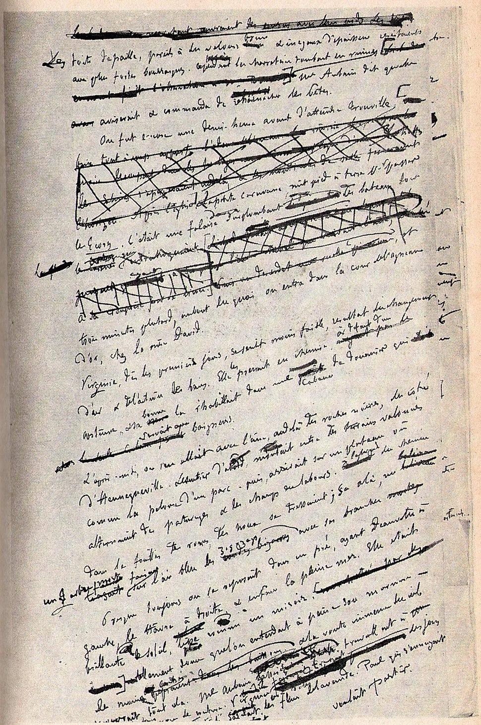 Un Cœur simple (manuscrito)