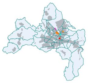Standorte der albert ludwigs universität im freiburger stadtgebiet