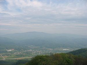 Unicoi, Tennessee - Unicoi viewed from Buffalo Mountain