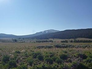 Union Peak, Wyoming - Union Peak from northwest, from Union Pass Road