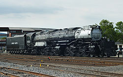 Der Union Pacific Big Boy No. 4012 im Steamtown National Historic Site in Scranton, Pennsylvania.