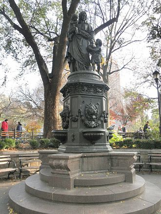 Theodore Roosevelt Sr. - Union Square Park Drinking Fountain (1881). Donated by Daniel Willis James and Theodore Sr.