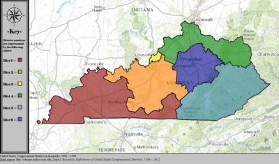 United States Congressional Districts in Kentucky, 1993 – 1996.tif