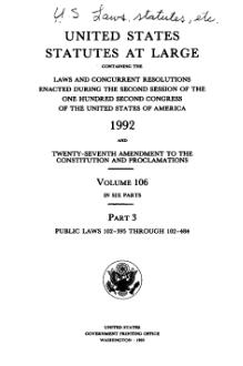 United States Statutes at Large Volume 106 Part 3.djvu