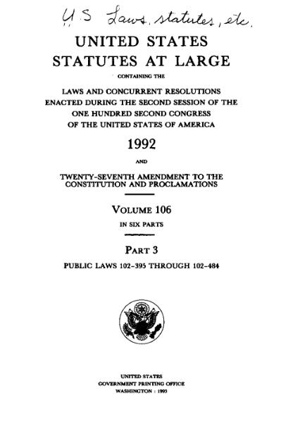 File:United States Statutes at Large Volume 106 Part 3.djvu