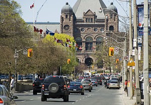 Terminating vista - The Ontario Legislative Building in Toronto completes the terminating vista of University Avenue.