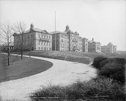 University of Cincinnati, Ohio, ca. 1904 University of Cincinnati, Ohio c. 1904.jpg