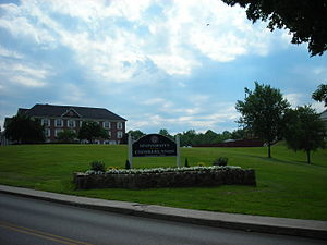 Williamsburg, Kentucky - University of the Cumberlands marker off of Main Street, in Williamsburg, Kentucky