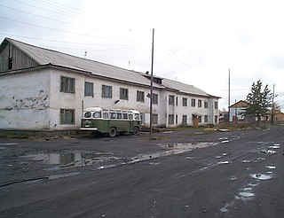 Ust-Omchug Urban-type settlement in Magadan Oblast, Russia