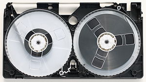 VHS - Top view of VHS with front casing removed