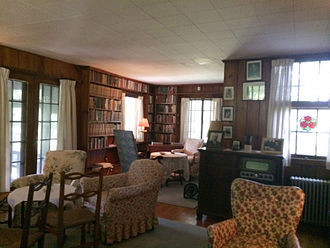 Eleanor Roosevelt National Historic Site - Living Room in Val-Kill Cottage at Eleanor Roosevelt National Historic Site