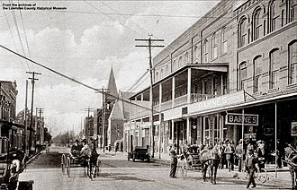 Valdosta, Georgia - Downtown Valdosta around 1900.