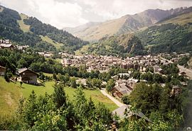A general view of Valloire