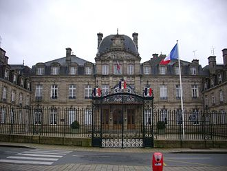 Morbihan - Prefecture building of the Morbihan department, in Vannes