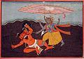 Varaha kills the demon Hiranyaksha (6125123492).jpg