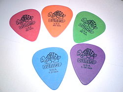 Various Dunlop Tortex picks