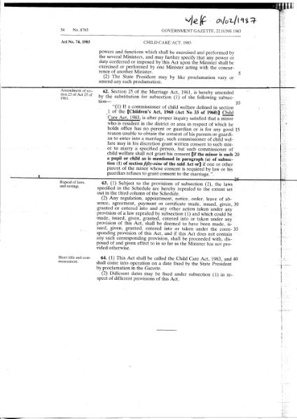File:Various amendments of the Marriage Act, 1961.djvu
