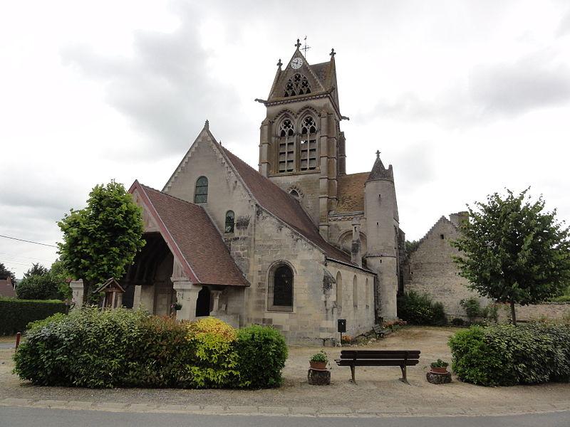 Vasseny (Aisne) église Saint-Rupert et Saint-Druon, portail tour et tourelle