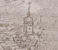 Veduta města Kadaně z roku 1602 - Jan Willenberg.tif