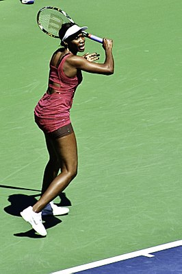Venus Williams op de US Open van 2010