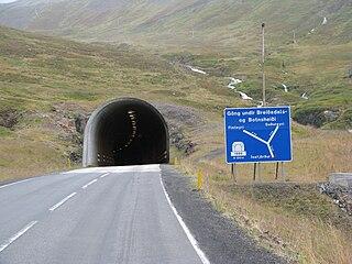 Vestfjarðagöng Tunnel in Iceland