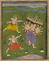Viṣṇu as Rāma with Lakṣmaṇa killing Ravaṇa.jpg