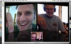 Three way video chat