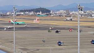 Nagoya Airfield - View form Airport Walk towards the field (2010)